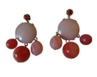 Gerald Yosca Coral Drop Earrings