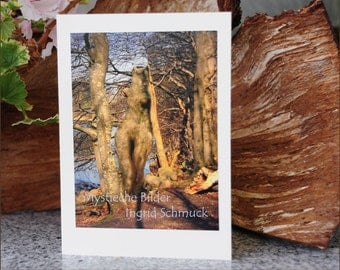 "Double card with envelope, nature photography, photo greeting card, greeting card ""Torso"", photo art"