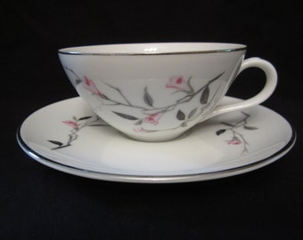 Cherry Blossom 1067  Fine China- Tea cup and saucer