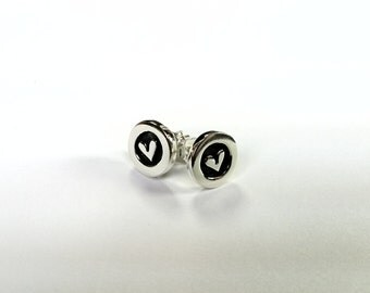 Fantastic stud earrings , Comic sterling silver