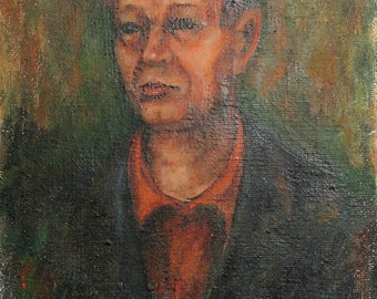 1968  man portrait oil painting signed