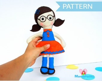 Felt Doll Pattern, Mary Hand sewing Pattern A800