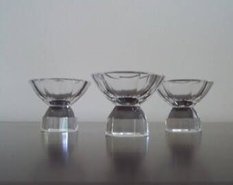 These are the most beautiful one-of-a-kind crystal votive candle holders, what a find!