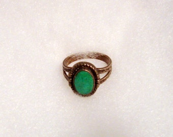 Vintage 1960's Silver Turquoise Ring