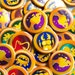 1.5 Inch Animal Crossing New Leaf Badges Buttons - 5 Button Set