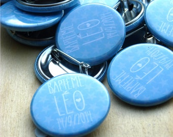 45 badges custom baptism