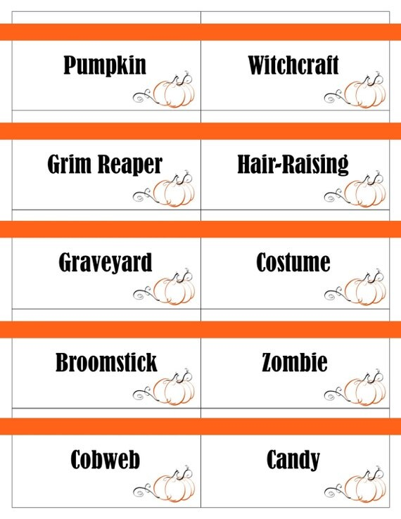 Luscious image within halloween charades printable