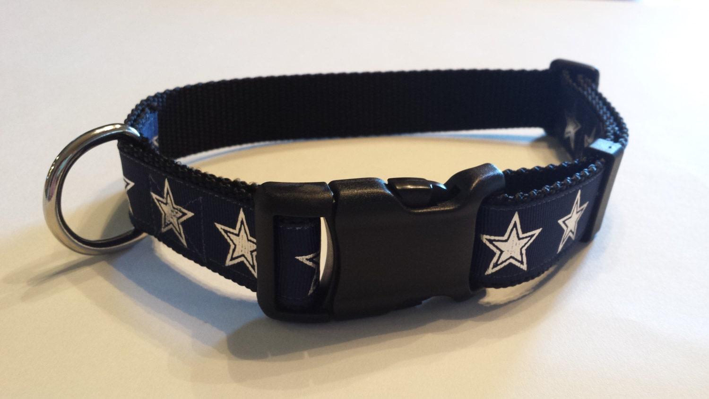 Navy Silver Star Dog Collar