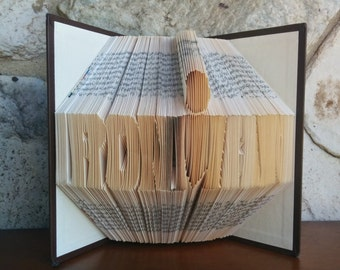 Ironman - Folded Book Art - Fully Customizable, Marathon race