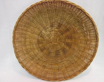 "REDUCED! Vintage 14"" Wicker Platter"