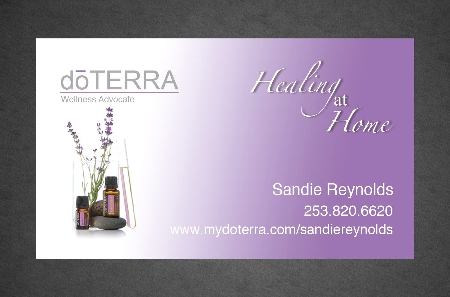 Digital doterra business card design full color by for Doterra business card template
