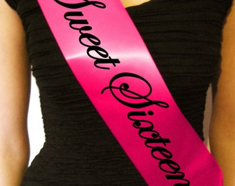 Luxury Sweet Sixteen Birthday Sash - Gift for 16th Birthday Boy or Girl - Party Decoration