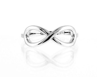 Sterling Silver Infinity Ring, Infinity Ring, Classic Infinity Ring, Silver Classic Infinity Ring, Silver Infinity Ring