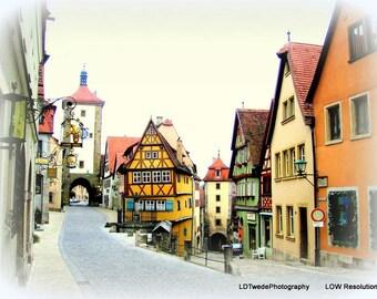 Germany Photograph, Rothenburg Photo, Medieval Village, Romantic Road, Picturesque, Bavaria, Germany Fine Art, Romance, Travel Photography