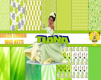 Kit digital papers more disney princess tiana clipart !!!