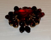 RUBY BROOCH - Boxed - Costume Jewelry - Gift / Present