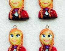 Set of 4 Frozen Pendants...Anna Pendant