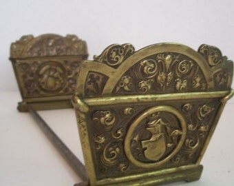 SALE Antique Brass Expandable Book Rack Was 135.00 Now