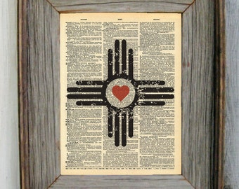New Mexico Heart Dictionary Art Print