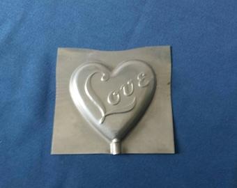 Vintage Holiday Heart Lollipop Mold