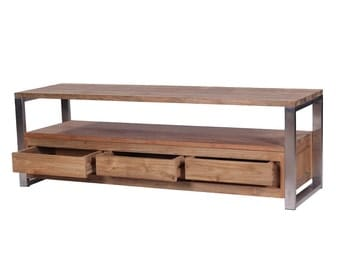 Seger Industrial TV Unit. Reclaimed wood and metal. Fully eco-friendly with free delivery!