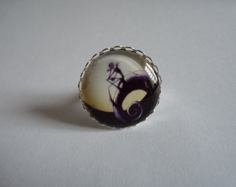Adjustable ring cabochon 25mm Mr. Jack