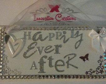 Beautiful hand made decorative wedding love hanging sign