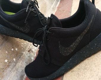 Custom Nike Roshe Run Oreo Athletic Running Shoes