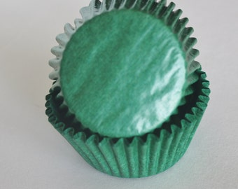 Dark Green Cupcake Papers
