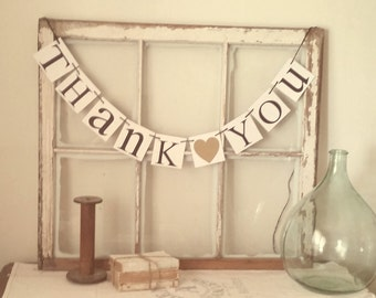 Gold Wedding Banner - Wedding Signage - Gold Wedding Decor - Thank You Banner - Thank You Sign - Wedding Thank You Cards