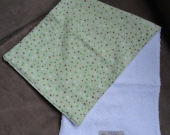 Made-to-Order Square edge cotton flanel burp cloth