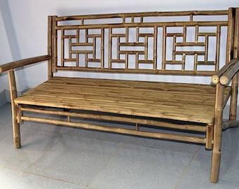 "Standard Lattice Back Bamboo Bench, 54""l x 21""w x 36""h, BCB-60"