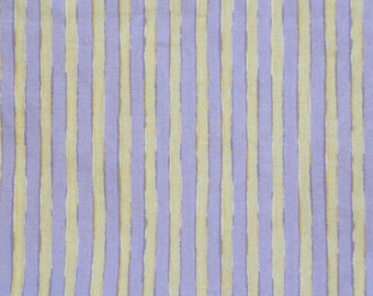 Baby Crib Sheet or Toddler Bed Sheet - Purple and Yellow Stripe