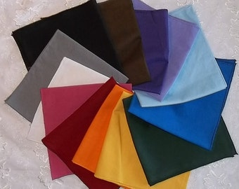 Altar Cloth Set/Tarot Cloths- Thirteen Cotton Cloths for Magic Altars