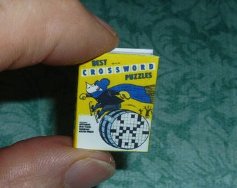 CROSSWORD PUZZLES! Dollhouse Miniature Book, 10 Pages!!!!