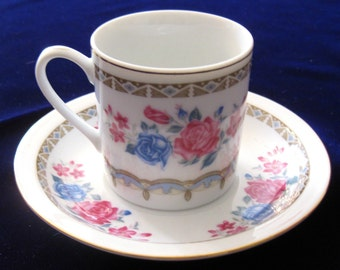 Set of 24 Pcs. Tea Coffee Cup and Saucer White Porcelain Made in China