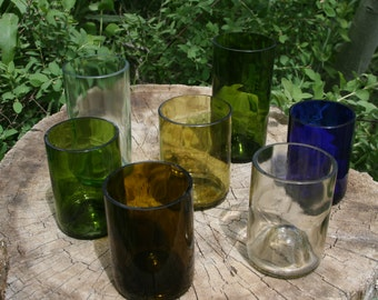 Recycled Wine Bottle Glasses Stemless Wines and Tumblers