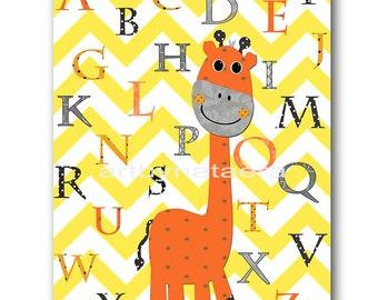 Digital Alphabet Nursery Printable Wall Art Baby Nursery Decor Printable Decor Baby Nursery Print Digital Print 8x10 11X14 INSTANT DOWNLOAD
