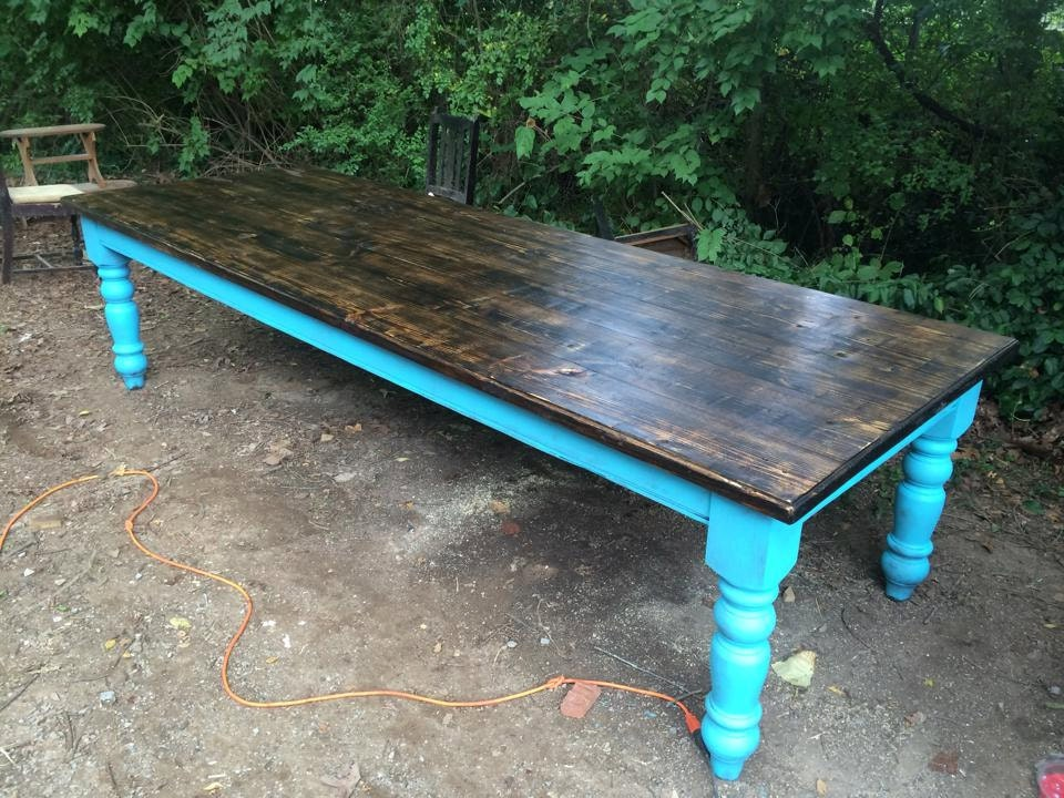 10 foot farm table by wellsworksfurniture on etsy