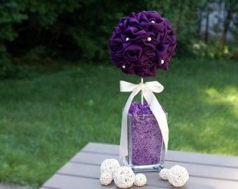 Wedding Centerpiece - Fabric Pomander - Topiary - Wedding Decoration