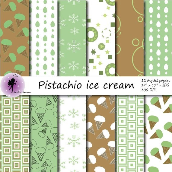 Pistachio Ice Cream Wallpapers High Quality: Pistachio Ice Cream Paper Brown And Green Background Paper