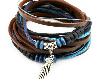 axy wrap bracelet TWIC13-2! Leather Bracelet