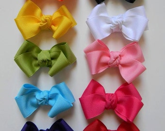 Small Bow Package, 2 inch Hair Bows, Solid Hair Bows, 2 inch Bows, Two Inch Bows