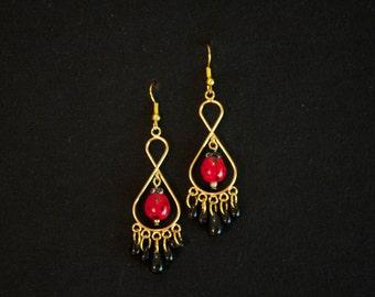 Lady Chandelier Gold Earrings