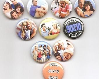 Beverly Hills 90210 TV Show Set 10 Pins Button Badge Pinback
