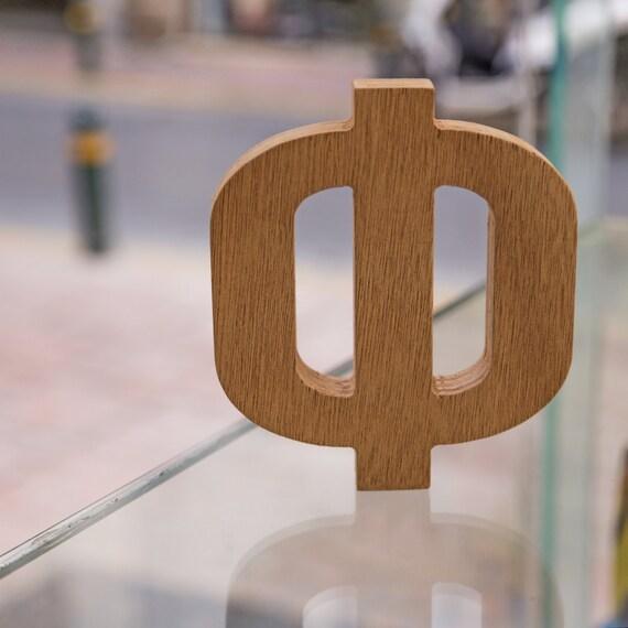 Greek wooden letter phi for Buy wooden greek letters