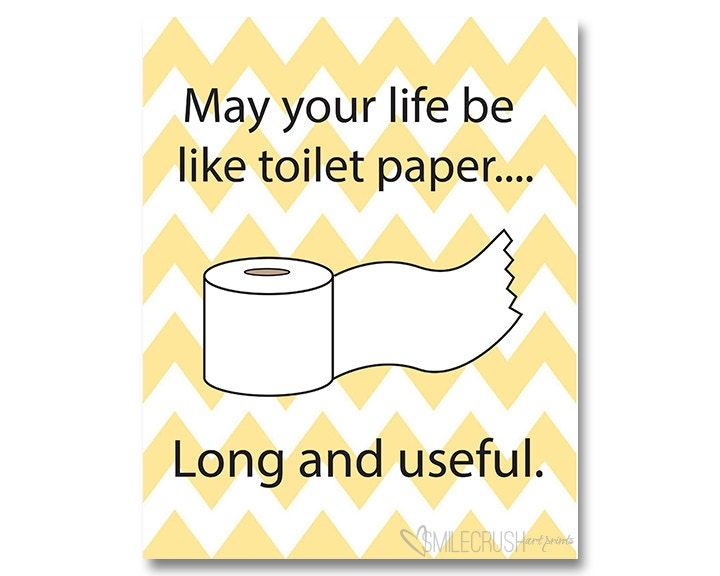 Bathroom printable toilet paper sign funny bathroom quote for Free printable funny posters