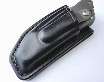 Custom Leather Sheath for Strider PT Folding Knife, Handmade by Goldenstonebazaar