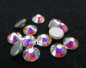 2058 ss30 Swarovski Elements Crystal AB 6.5 mm Flatback Rhinestones Nail Art Wedding Dress Decoration [36 pcs]