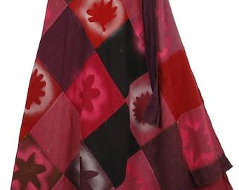 Pinky Breeze Wrap Cotton Skirt